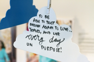 """To be able to trust enough again to love... travel, and live every day on purpose!"""